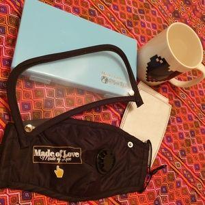 1Set Washable Face Mask with Vent Filter Mask Case